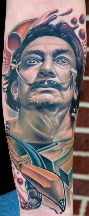 Dali Tattoo by Nikko Hurtado