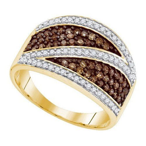 10K Yellow Gold 0.75 TCW Light Cognac Light Chocolate Champagne Diamond Rings Size 7 Includes Free Jewelry Gift Boxby Lagoom http://blackdiamondgemstone.com/colored-diamonds/jewelry/10k-yellow-gold-075-tcw-light-cognac-light-chocolate-champagne-diamond-rings-size-7-includes-free-jewelry-gift-box-com/