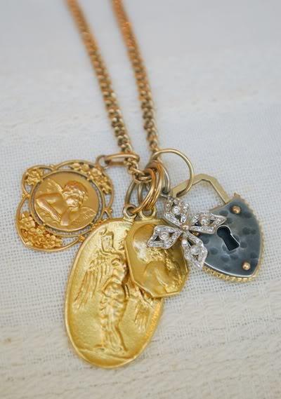 Sheri's keepsake charms. Cathy Waterman, Antique and Philip Crangi