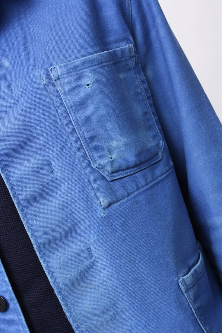 vintage blue french workwear jacket (S/M) : Cotton Love