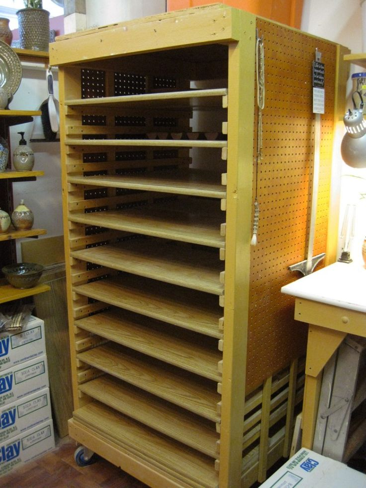 Drying Cabinet For Pottery Studio ~ Best images about racks on pinterest wall mount