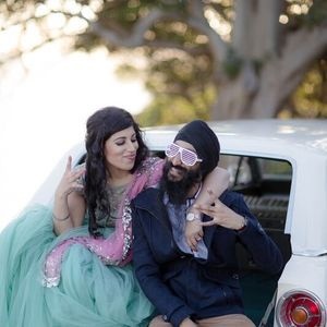 The bride in Anushree Reddy - photoshoot - DIY - Indian wedding - Sikh wedding - Punjabi wedding