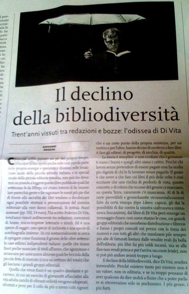 """Giovanni Dozzini recensisce la prima edizione di """"Pazzi scatenati"""" su «Europa» del venerdì 20 gennaio 2012."""