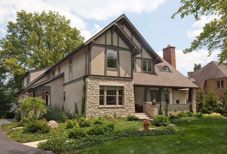 almond windows with traditional outdoor column fountains exterior craftsman and wood trim