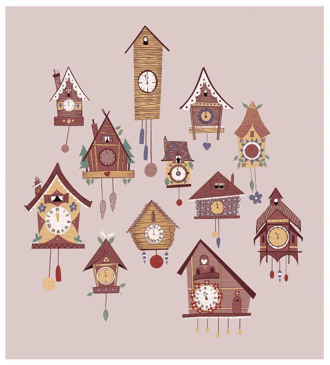 Cuckoo Clocks - Illustrations & Creations by Jenna Lee Alldread
