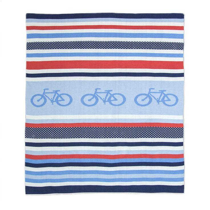 Weegoamigo Knitted Baby Blanket $79.95 - Cycle Stripe