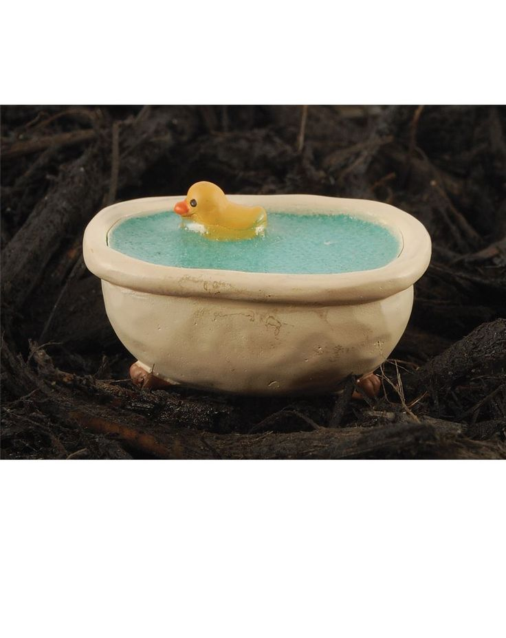 Show details for Bathtub With Duck Garden Stake