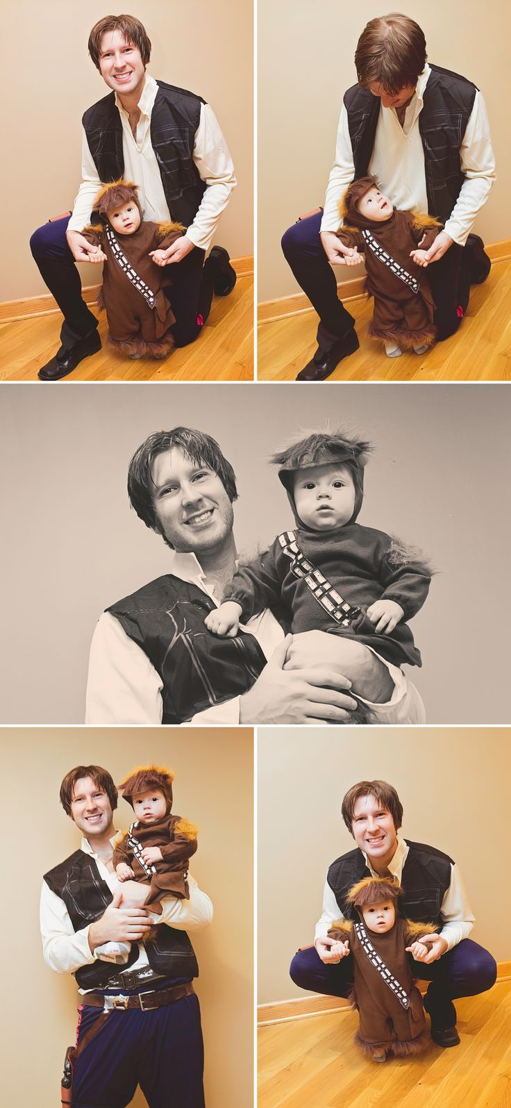 Han Solo and Chewbacca - Dad and Son Halloween Costumes