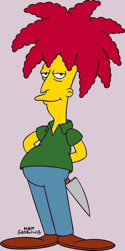 Sideshow Bob, from the Simpsons. Voiced by Kelsey Grammar. Sidekick to Krusty the Clown and nemesis to Bart Simpson