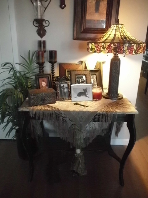 table was a thift store find, paint it!   look for items at garge sales and thift stores,