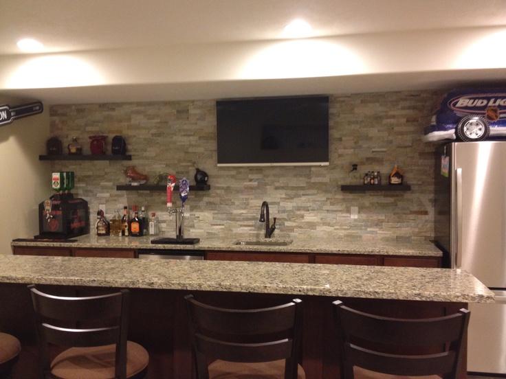 23 best basement bars images on pinterest basement bars for Man cave kitchen ideas