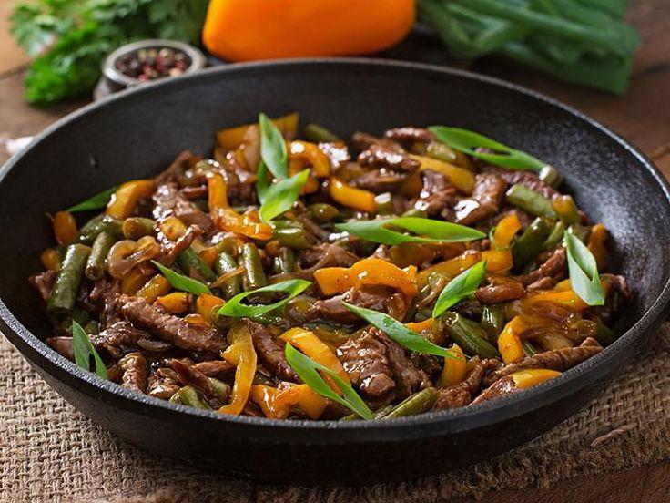 Sauté de boeuf et légumes à l'orange  SOS Cuisine