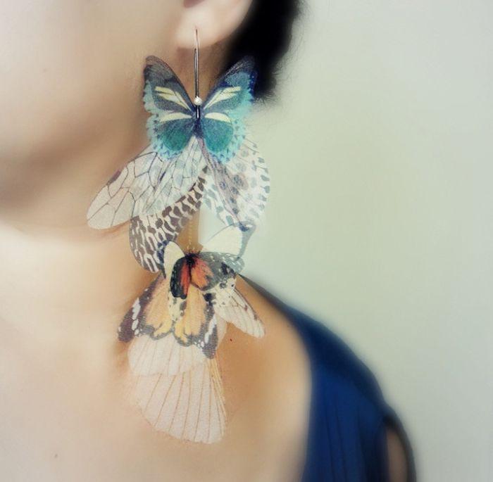 Воздушные украшения в форме бабочек — Рукоделие