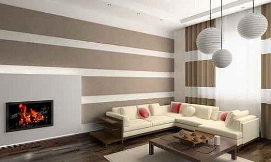 Interior Design Wall Painting: Horizontal Line Dominating