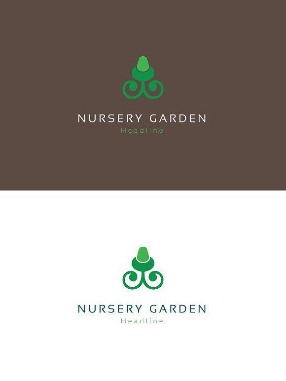 Nursery Garden Logo Professional Logo Design Logo Templates Logo Design
