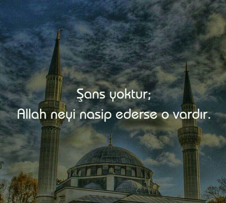 Nasibimize iyilikleri ver Allahím Âmin