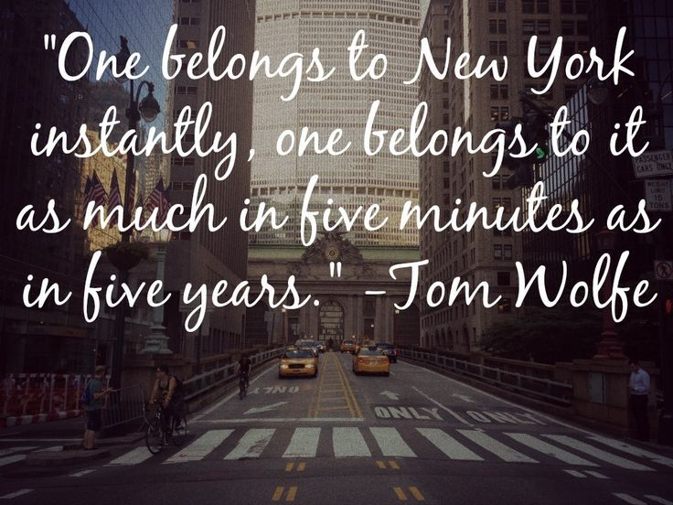 Favorite Quotes About New York City