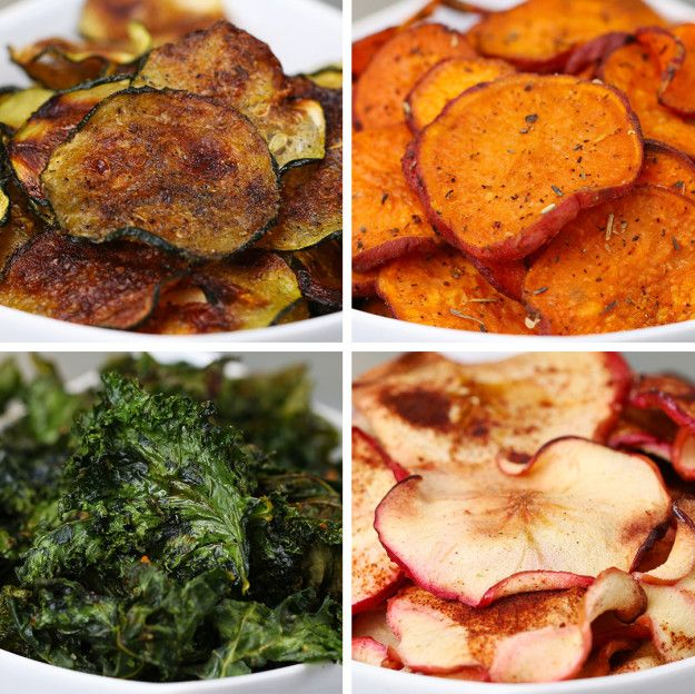Baked Fruit And Veggie Chips 4 Ways