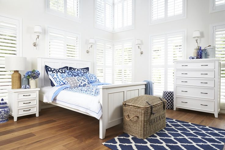 Windsor Bed Suite - Hold on to a little slice of summer with this hand brushed suite that is sure to bring a beach house vibe to your bedroom. Made from plantation timber with a hand brushed white finish, it is now available with matching tallboy, bedside and dressing table.