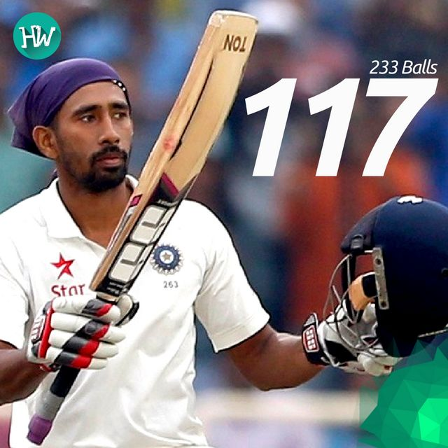 Wriddhiman Saha's century was no less of brilliance, as he supported Pujara perfectly! #INDvAUS #IND #AUS #cricket