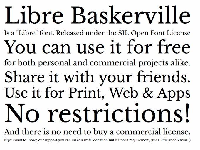 「libre baskerville」の画像検索結果