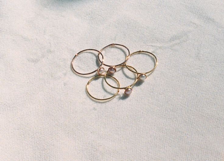 Silver rings gold plated with pearl ! B-Tal jewellery !!!!