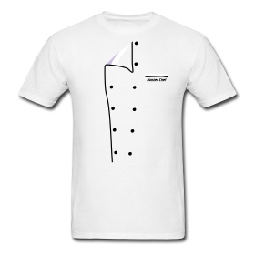 Great tee shirt idea for the serious cook or chef!  Love this.