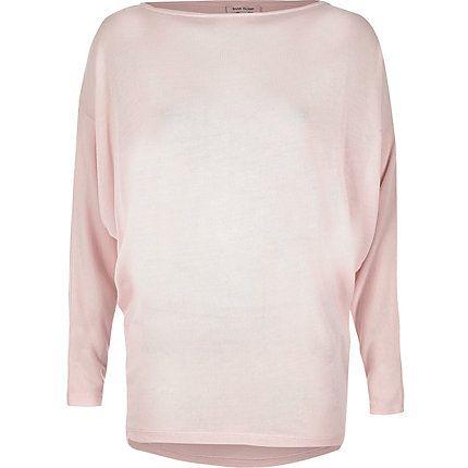 Blush pink batwing top €30.00