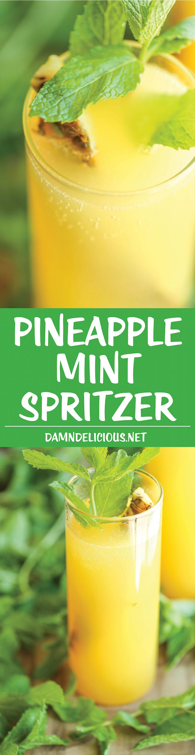 Pineapple Mint Spritzer - Simple, refreshing and wonderfully bubbly ...