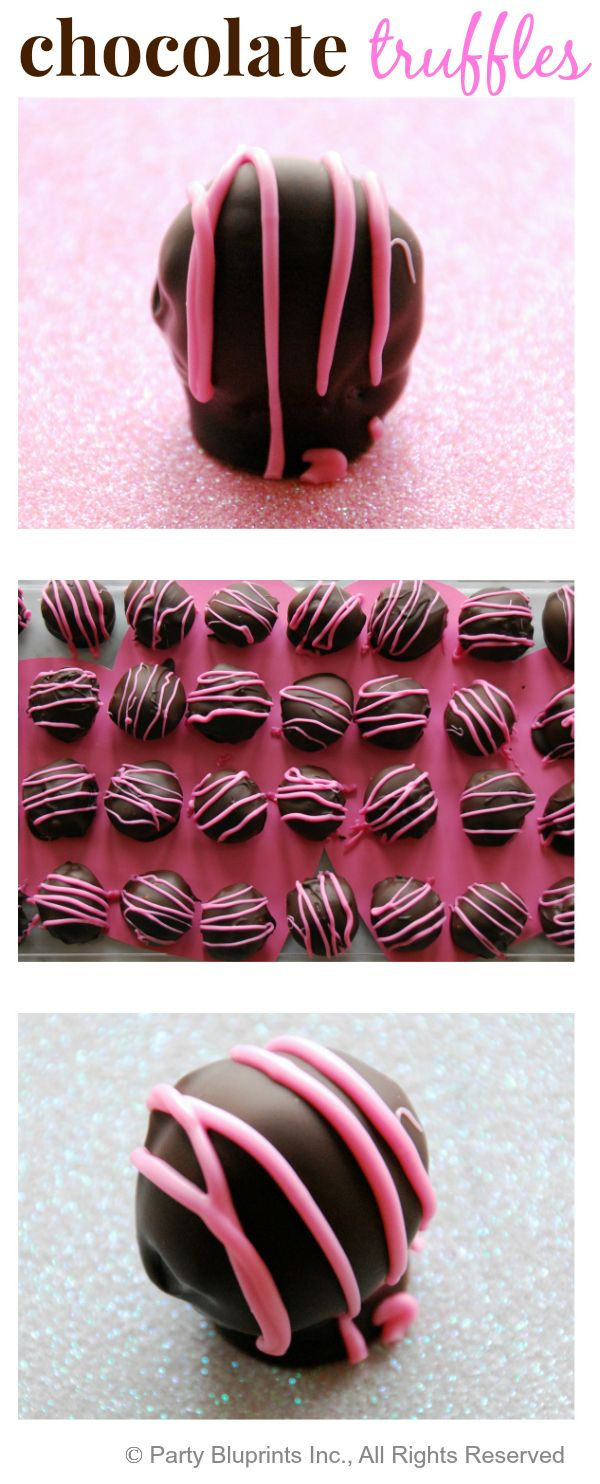 Chocolate Truffles! Perfect for a Valentine treat! Recipe makes 36