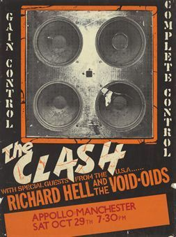 The Clash Concert Poster https://www.facebook.com/FromTheWaybackMachine