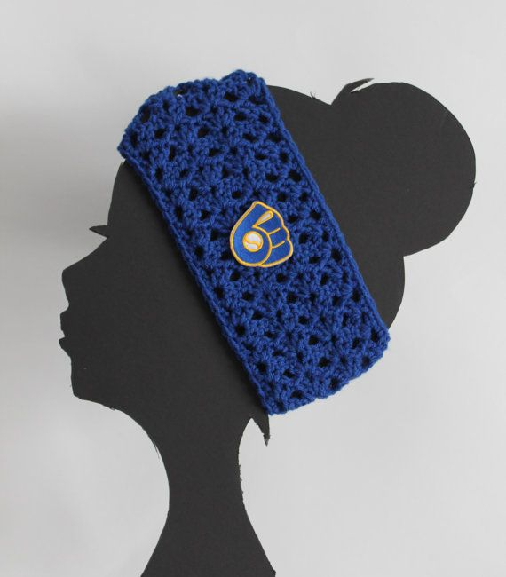 Hey, I found this really awesome Etsy listing at https://www.etsy.com/listing/182668177/milwaukee-brewers-mlb-headband