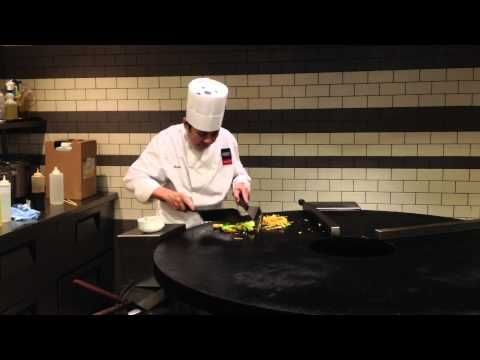 We love to watch Mongolian BBQ chefs do their magic to make the ultimate stir fry.