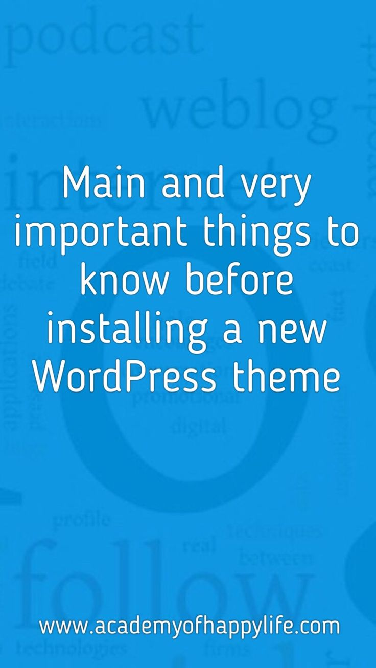 WordPress themes. How to chose a new theme for your website? Main and very important things to know before installing a new theme. If you are thinking about changing your theme or installing a new theme, this article is a must read for you. Best article which explains everything about the WordPress themes. Every blogger should know it. Change your theme safely for your blog.