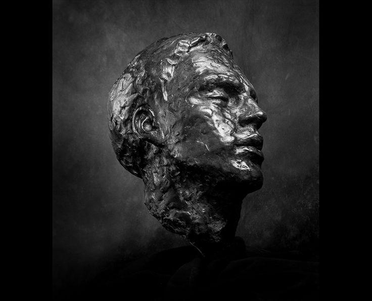 Michal Jackowski, BARD, Bronze, 25x30x45 cm, 2012  #sculptures #humans #antique #pinart #creative #passion #love #art #classic