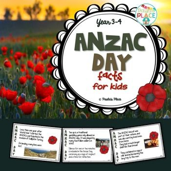 ANZAC Day21 pagesPlease read the description and download the preview before purchasing. The preview clearly shows you what is included in this pack. This is a zipped file which contains the PowerPoint and a PDF for printing. ANZAC Day is an important part of Australian and New Zealand history  one we share that has shaped our countries with mateship, perseverance and honour.