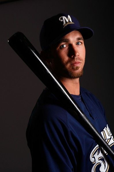 J.J. Hardy #7 poses for a photo during the Milwaukee Brewers Spring Training Photo Day at Maryvale Baseball Park on February 26, 2008