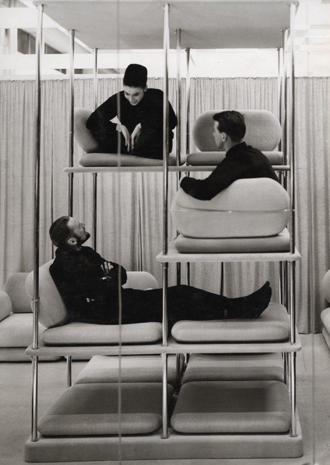 1964_ Multi-level Lounger BY VERNER PANTON