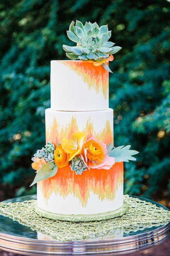 20 Subtle Watercolor Wedding Cake Ideas | http://www.deerpearlflowers.com/watercolor-wedding-cake-ideas/