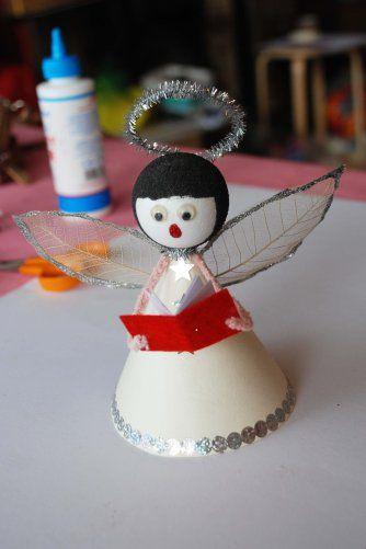 Christmas Angel Decoration : kan ook als Maria en Jozef gebruikt worden.