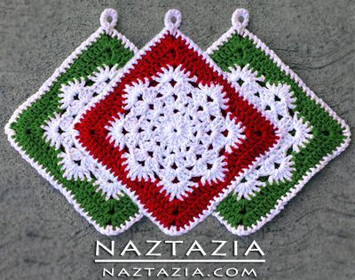 Crochet Snowflake Hotpad Potholder dishcloth