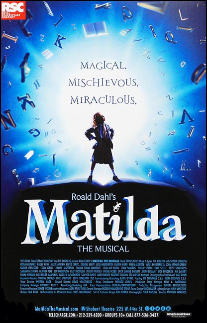 Matilda the Musical Broadway Poster $20.00