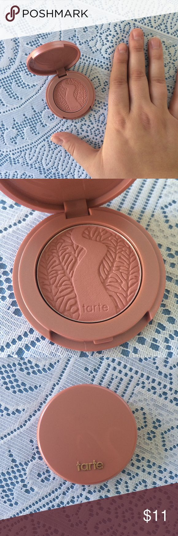 """⬇️💸NWOT Tarte MINI Amazonian Blush in """"Paaarty"""" ⬇️💸10% DECREASED💸⬇️ NWOT Tarte MINI 12 Hour Amazonian Blush in """"Paaarty"""" 🎈 Soft nude-pink color. NEVER SWATCHED OR USED. Compact approx 2"""" x 2"""" and contains 1.5 g of product. Includes plastic film protector. Pic 4 courtesy of Avery Mae Beauty. Full size RTP $29. #tarteist #face #pigment #rosy #cosmetics #clay tarte Makeup Blush"""