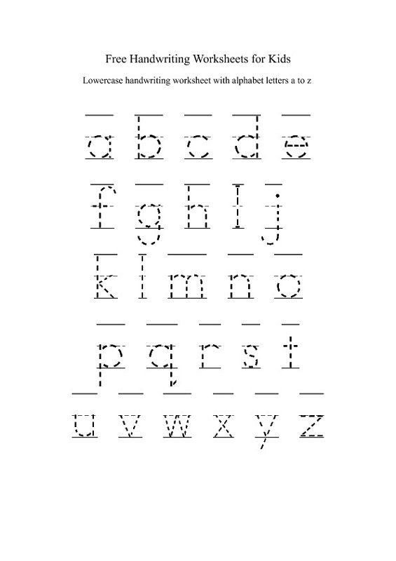 Lower Case Alphabet Worksheets Handwriting Worksheets For Kids, Free Handwriting  Worksheets, Free Handwriting
