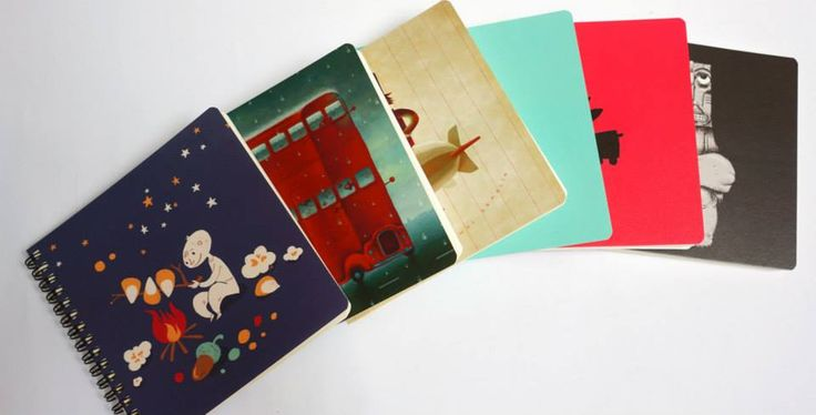 Notebooks illustrated by Maria Surducan, Alexandru Ciubotariu & Vali Petridean.