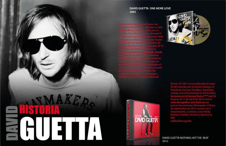 Infograma de David Guetta realizado en illustator