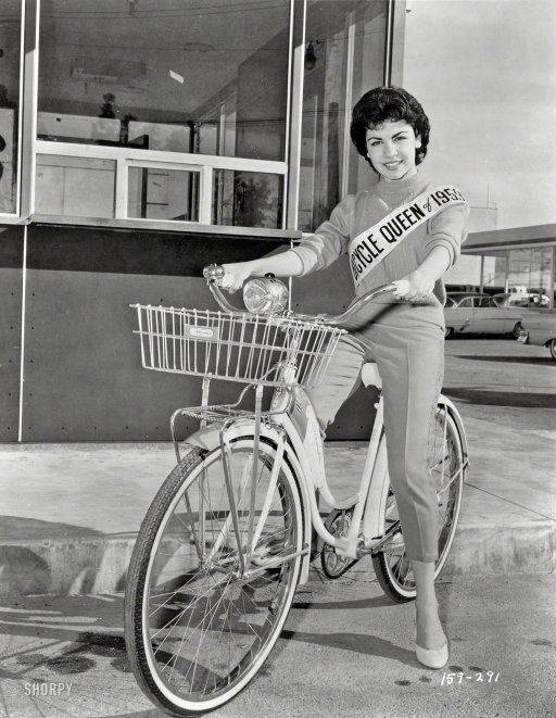 "March 20, 1959. ""Sixteen-year-old actress Annette Funicello, Bicycle Queen of 1959."" New York World-Telegram and Sun Photo Collection."