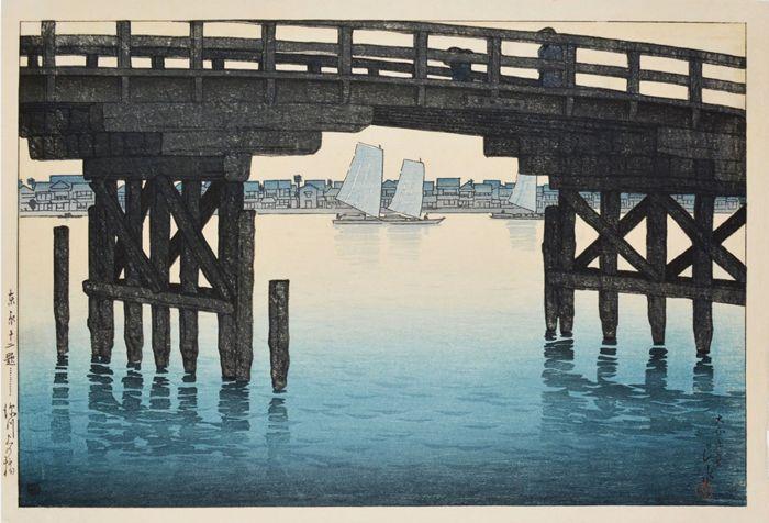 Kawase kasui : quiet elegance présente 50 estampes ukiyo-e (impression après gravure sur bois, de la période Edo). Cette collection a été rassemblée par l'armée américaine entre la fin de la seconde guerre mondiale et la fin de la guerre de corée. L'artiste excelle à rendre les atmosphères. Il reproduit les aléas de la météo …
