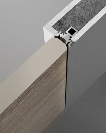 Reversible Flush Wall Door With Push Or Pull Opening