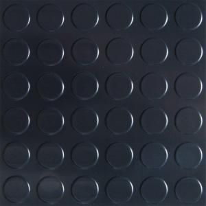 G-Floor 8 ft. x 22 ft. Coin Commercial Grade Midnight Black Cover and Protector Garage Flooring